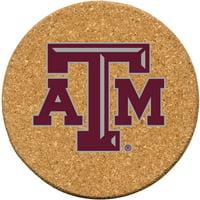 Set of Six Cork Coasters, Texas A&M University