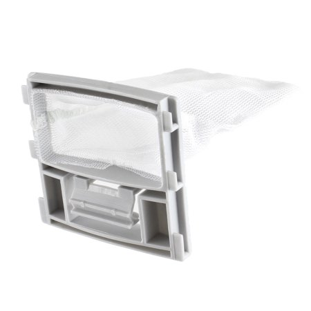 White Gray Nylon Mesh Filter Bag Pouch Holder 9cm x 7.5cm for Washing Machine