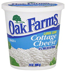 Oak Farms 4% Milkfat Large Curd Cottage Cheese, 24 oz