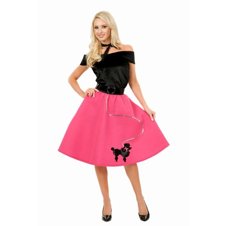 Black Poodle Skirt Costume (Poodle Skirt Adult Costume)
