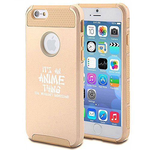Apple iPhone 6 6s Shockproof Impact Hard Case Cover It's An Anime Thing (Gold),MIP