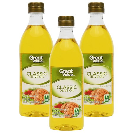 - (3 Pack) Great Value Classic Olive Oil, 17 oz