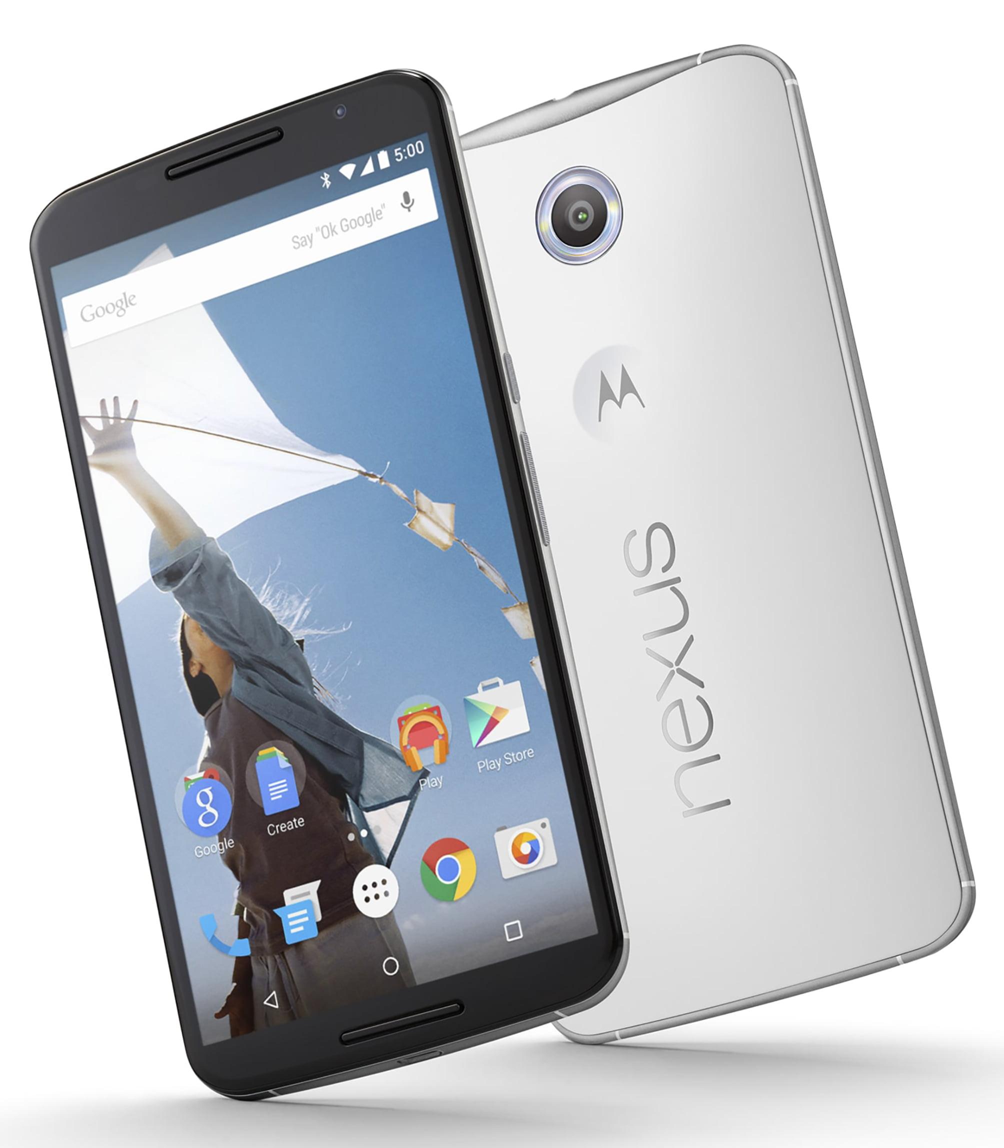 Motorola Nexus 6 XT1103 32GB Unlocked GSM Quad-Core Android Phone w  13MP Camera Cloud White (Certified Refurbished) by MOTOROLA