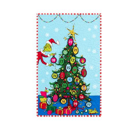 Dr Seuss How The Grinch Stole Christmas Advent Calendar Fabric Kit 22 X 35 Robert Kaufman Kitp 1832 4