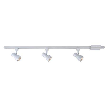 Hampton Bay Mini Step 44 In 3 Light White Linear Track Lighting Kit 803889
