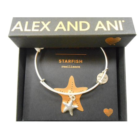 (Alex and Ani Starfish II Rafaelian Silver Bangle Bracelet)