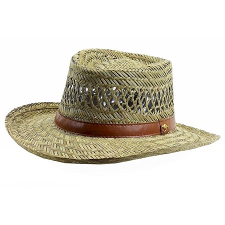Dorfman Pacific Safari Hat (Dorfman Pacific Men's Natural Rush Gambler Outback Hat )