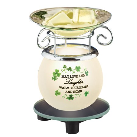 Irish Saying Wax Warmer with Shamrocks St. Patrick's Day Decoration - St Patrick Sayings