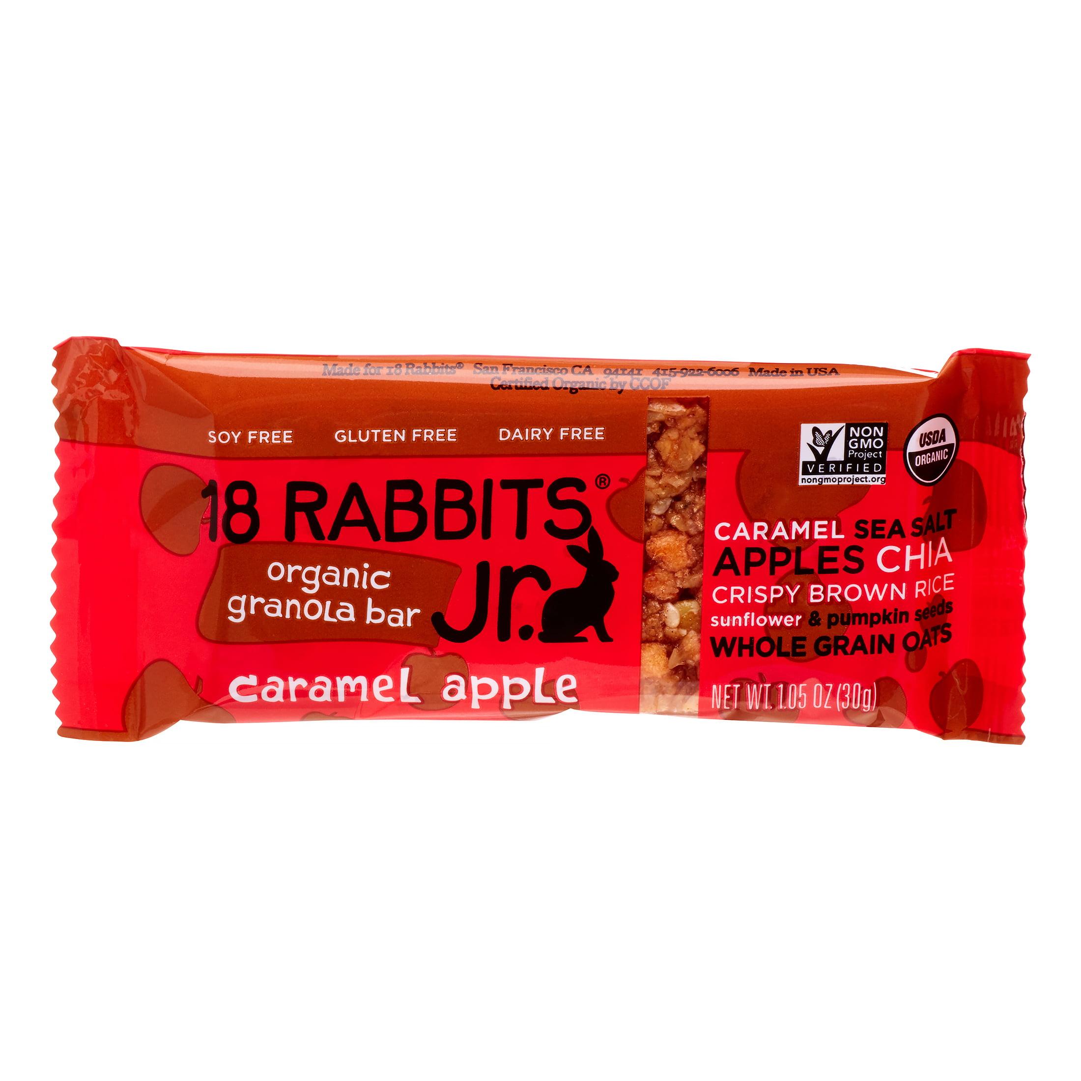 Image of 18 Rabbits Caramel Apple Jr. Organic Granola Bar, 1.05 Oz (Innerpack of 16)