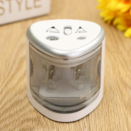 Pencil Sharpener Electric Automatic Dual Holes Battery Desktop School Office - image 5 of 10