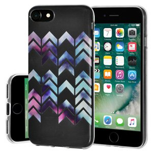 iPhone 7 Case, Soft Gel Clear TPU Back Case Impact Defender Skin Cover for iPhone 7 - Modern Arrow Print