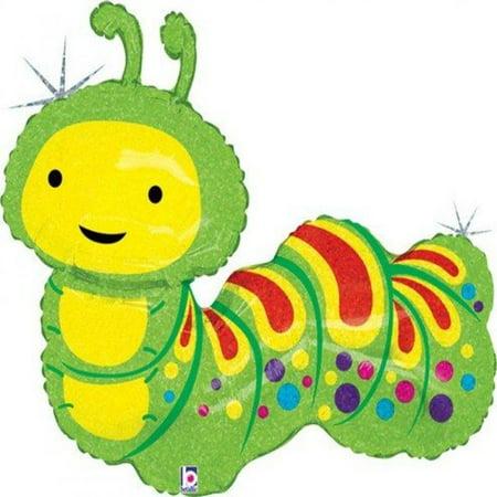 Caterpillar Part (Adorable Green Springtime Caterpillar 32 Mylar Balloon)
