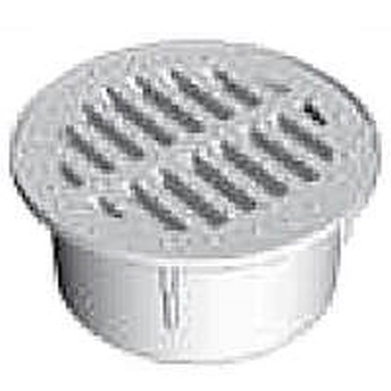 5296777,CORRUGATED DRAIN FITTINGS,ROUND GRATE ,Size In=3,Color=Black