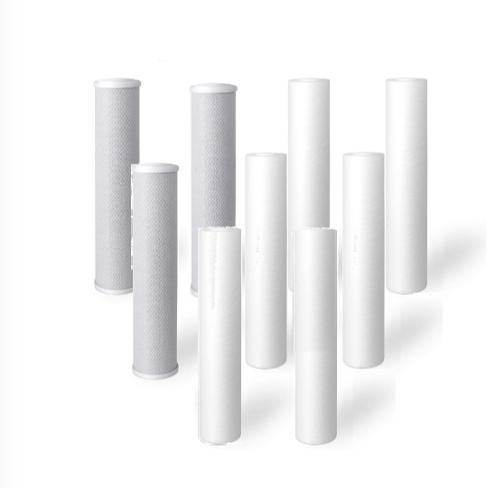"9 Pack: Big Blue Water Filter Cartridges: 6 Sediment, 3 Carbon Block 4.5"" X 20"""
