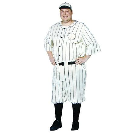 Old Tyme Baseball Player Adult Halloween - Baseball Costume Australia