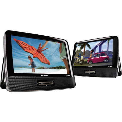"Philips 9"" Portable Dual Screen/Dual DVD Players"