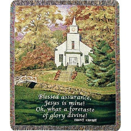 Charlotte Home Furnishings WW-8025-11207 Hazels Church Afghan Throw, Green - image 1 de 1
