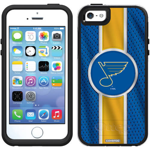 St. Louis Blues Jersey Stripe Design on OtterBox Symmetry Series Case for Apple iPhone 5/5s