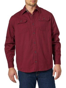 Wrangler Men's Long Sleeve Solid Twill Shirt