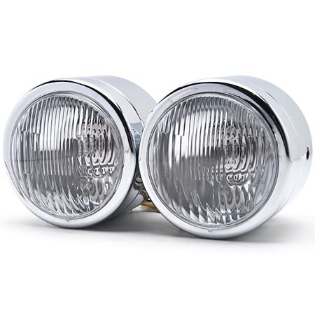 Kapsco Moto Chrome Twin Headlight Motorcycle Double Dual Lamp For Victory V92C V92SC V92TC Deluxe Classic - image 1 of 6
