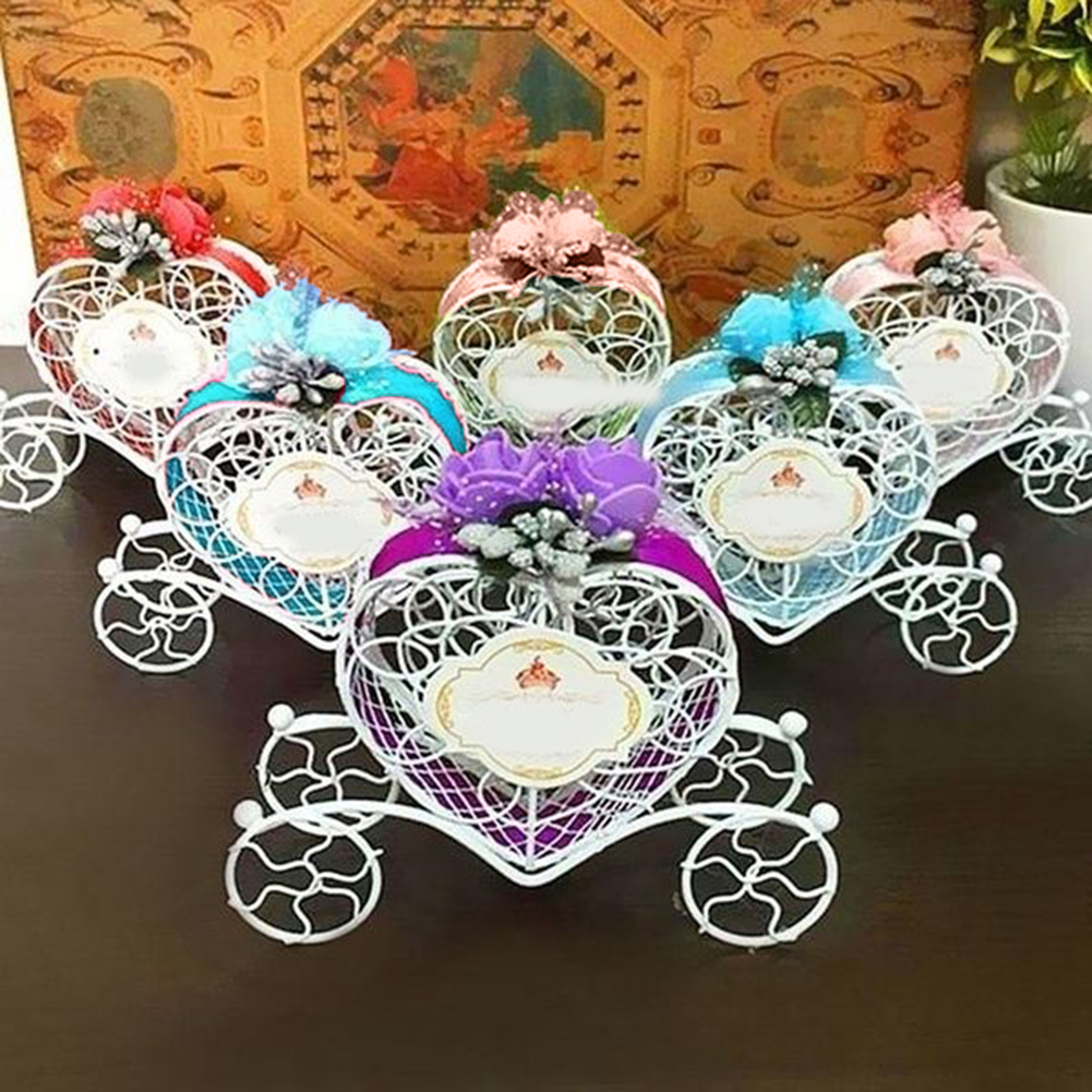 Micelec Heart Carriage Couch Sweets Chocolate Candy Box Wedding Party Favours Gift Box