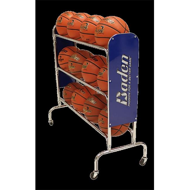 Baden RACK-04 Ball Steel Basketball Rack with Wheels