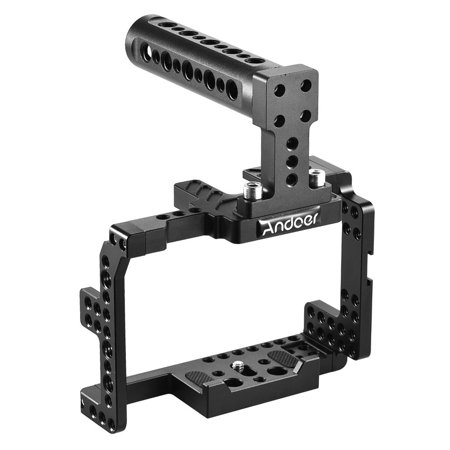 Andoer Protective Video Camera Cage Stabilizer Protector w/ Top Handle for Sony A7II A7RII A7SII Mirrorless Camcorder - image 1 de 7