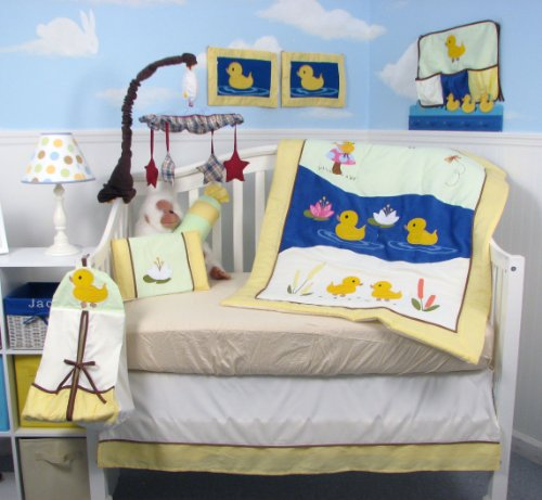 SOHO Baby Quack Quack Duck Crib Nursery Bedding Set 14 pcs