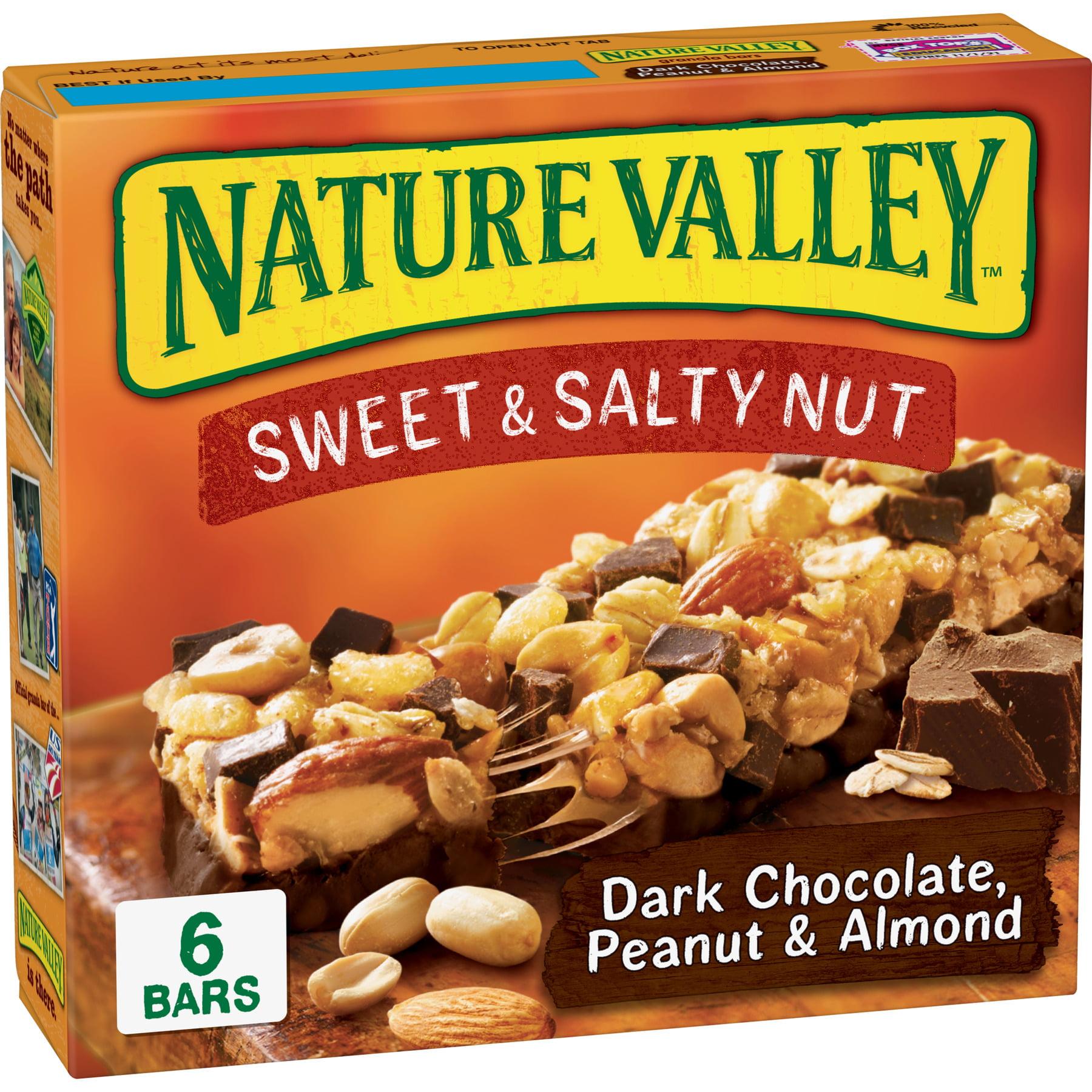 Nature Valley, Sweet & Salty Nut, Dark Chocolate Peanut & Almond, 6 Ct