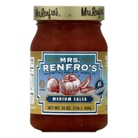 Mrs Renfros Medium Salsa, 16 OZ (Pack of 6)