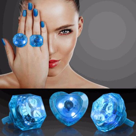 Huge Gem Ring Blue Assorted Shapes