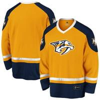 Men's Fanatics Branded Gold/Navy Nashville Predators Rival Blue Line Long Sleeve Jersey