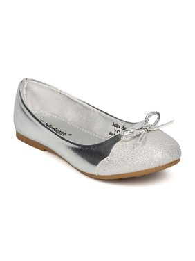 57fb7d57ce35 Product Image New Girl Jelly Beans Ciro Metallic Leatherette Capped Toe Bow  Tie Ballerina Flat