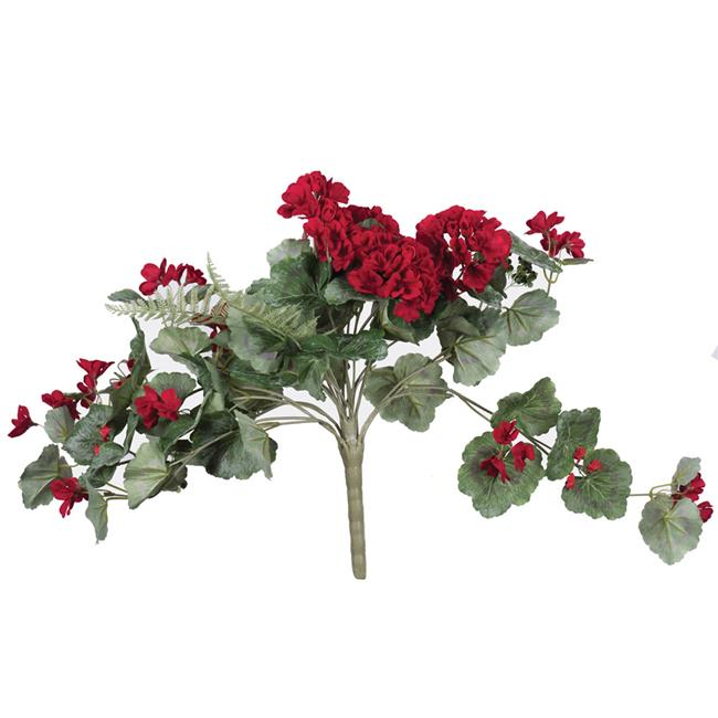 22 in. Geranium Hanging Bush - Red