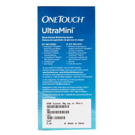 36bc93387d14a OneTouch UltraMini Blood Glucose Monitoring System - Walmart.com