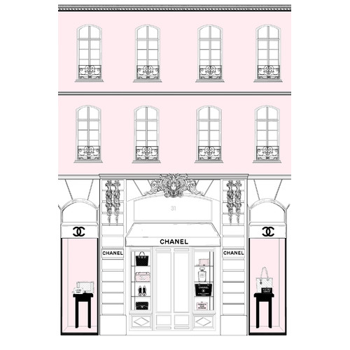 Marmont Hill Pink Store Front 2 By Loretta So Painting Print On