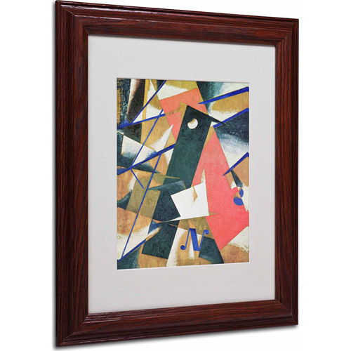 "Trademark Fine Art ""Abstract II"" Matted Framed Art, Wood Frame"