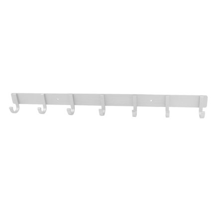 """Silver Tone Aluminum Fixed 7-hook Wall Hanger Towel Clothes Hanging Rack 21"""" - image 2 of 2"""