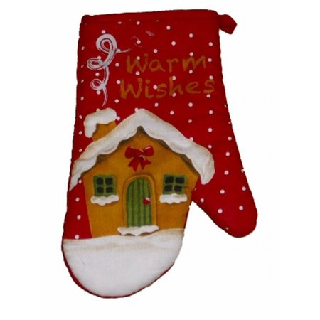 home for the holidays gingerbread house christmas oven mitt kitchen pot holder