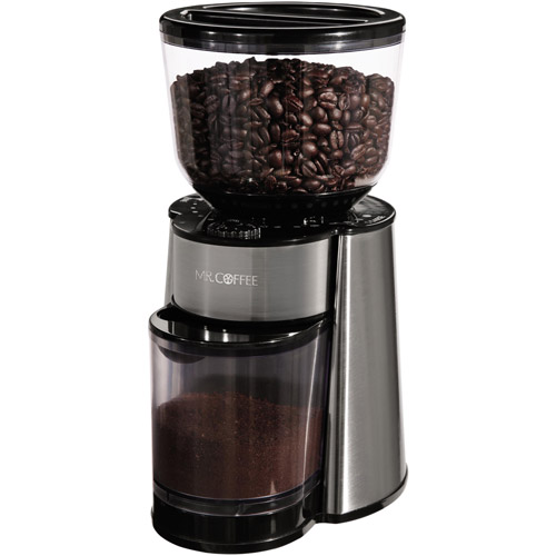 Mr. Coffee Automatic Burr Mill Grinder, BVMC-BMH23-WM
