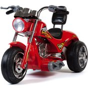 Mini Motos 12V Red Hawk Motorcycle, Red by Mini Motos