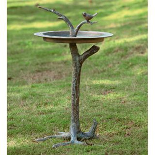 Bird and Twig Sundial Birdbath by SPI Home