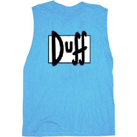 Simpsons Duff Beer Light Blue Sleeveless Adult T-Shirt ()