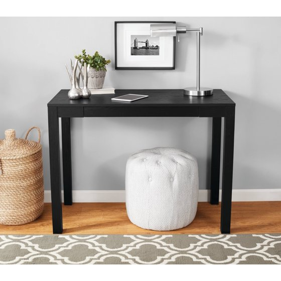 Mainstays Parsons Desk With Drawer Black Oak