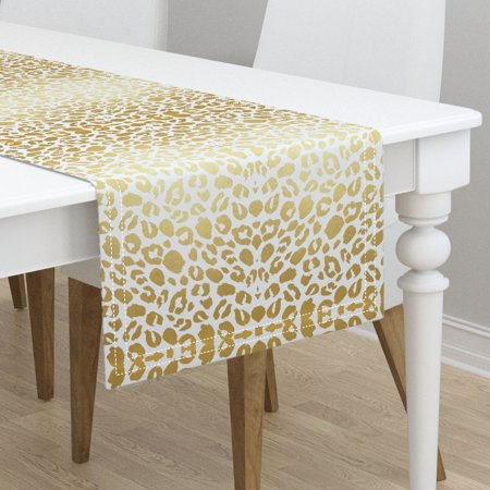 Table Runner Gold And Black Gold Leopard Print Gold Leopard Gold