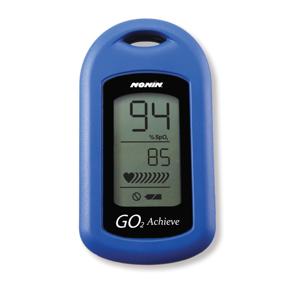Nonin GO2 Achieve pulse Oximeter, Made in the USA (Includes case,Lanyard and How-To-Guide)