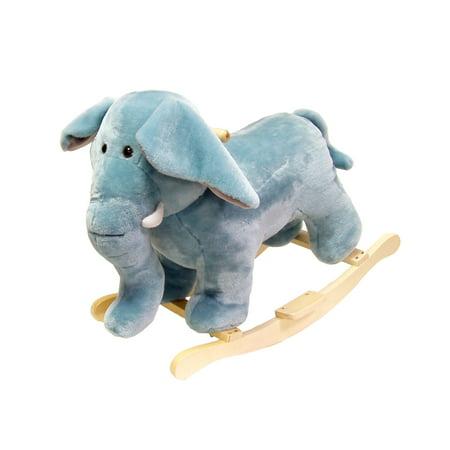 Elephant Plush Rocking Horse Animal Ride On Toy by Happy Trails