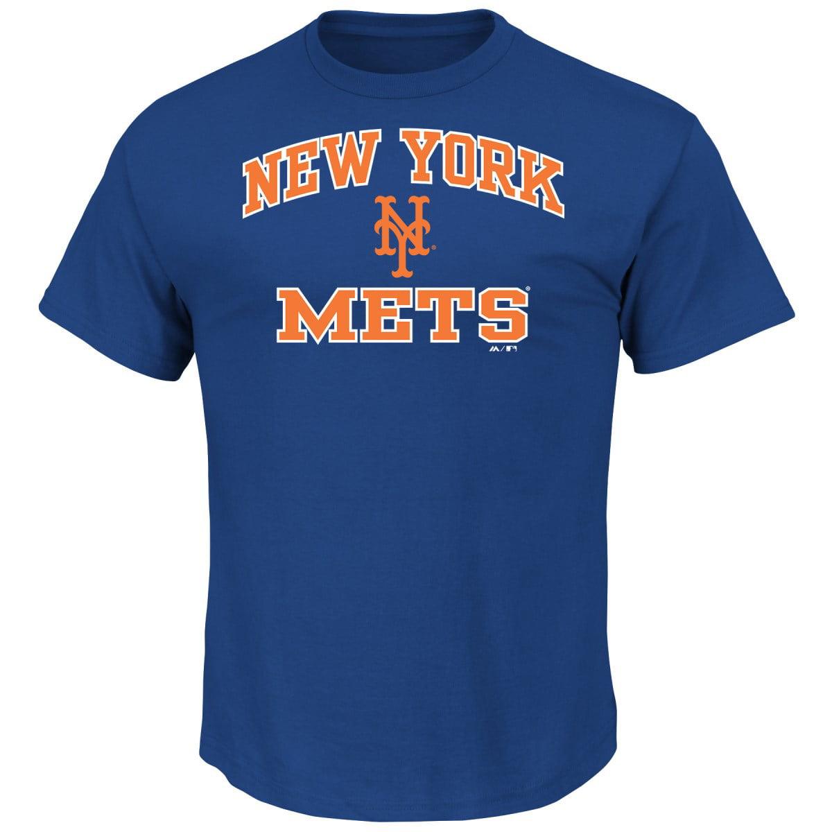 "New York Mets Majestic MLB ""Heart & Soul"" Men's Short Sleeve T-Shirt"