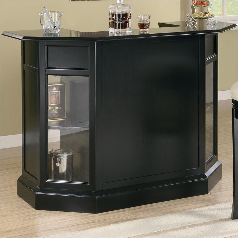 Coaster Furniture 9 Bottle Home Bar with Storage