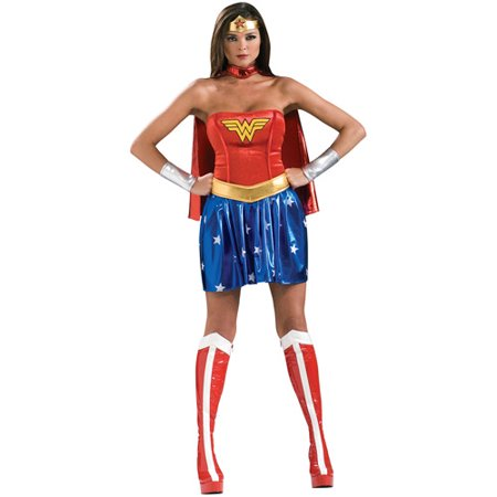 Wonder Woman Adult Halloween Costume](Ladies Costumes For Halloween)